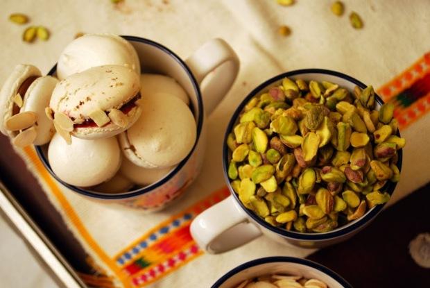 macaroon con pistachios